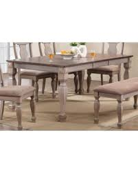 2 Tone Brown Wood Rectangle Dinette Dining Room Table With 18 Butterfly Extension Leaf