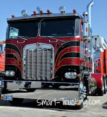 Old School Restored Kenworth Cabover Truck Red Black #Customtrucks ...