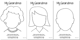 Mothers Day Grandma Coloring Pages