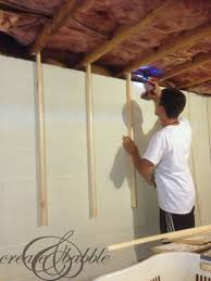 Installing Drywall On Ceiling In Basement by How To Hang A Pegboard Without Drilling Into Cinder Block