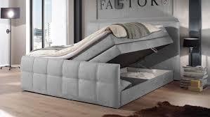 boxspringbett sacramento schlafzimmer in grau 180x200 cm