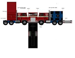 Papercraft | Name: Transformer; Optimus Prime | File Under