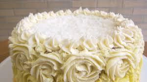 Coconut Lemon Pineapple Ombre Cake