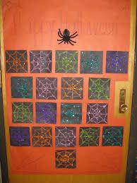 snazzy spider halloween classroom door decoration
