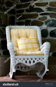 Old Style Wicker Rocking Chair Yellow Stock Photo (Edit Now ... Redwood Outdoor Rocker Handcrafted Wooden Prairie Leisure Garden Chair Patio Fniture For The Home Winston Vintage Wicker Blue Cushions Planters Rocking Chairs Explore Photos Of Old Fashioned Showing 12 10 Best Rocking Chairs Ipdent Buy Look Used For Sale Chairish Art Epicenters Austin Darrow Set Two