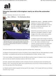 Edwards Chevrolet 280 INC news