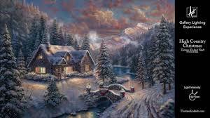 Thomas Kinkade Christmas Tree Cottage by High Country Christmas From The Thomas Kinkade Vault Gallery