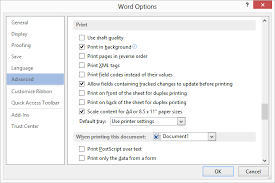 The Printing Options For Word