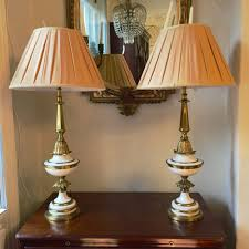 Stiffel Lamp Shades Cleaning by Antiques Atlas Pair Of Stiffel Lamps In Paint And Brass