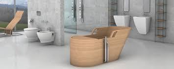 italienische luxus bäder mit badewannen aus edlem holz