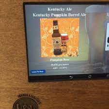 Kentucky Pumpkin Barrel Ale Glass by Frankie U0026 Fanucci U0027s Wood Oven Pizzeria Home Facebook