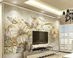 100 European Home Interior Design US 885 41 OFFbeibehang Behang Luxury Gold 3d Three Dimensional Pattern Jewelry Bed Head Home Interior Background Modern Wallpaperin