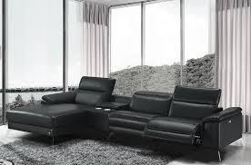 canape angle relax cuir canapé d angle en cuir italien 5 places relaxia noir mobilier privé