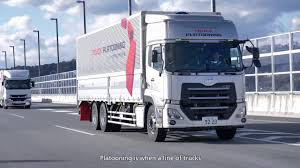 UD Trucks - Platooning Trial On Japanese Highway - YouTube