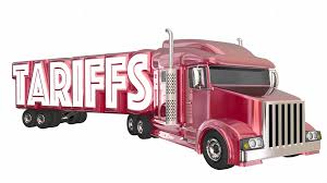 Tariffs Truck International Trade Imports Exports 3 D Animation ...