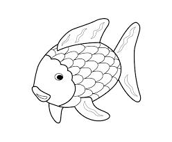 Design Inspiration Rain Beautiful Rainbow Fish Coloring Page