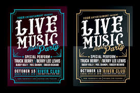 This Flyer Template Is Ideal For Promoting A Live Music Event The Big Bold Headline Will Instantly Turn More Than Few Heads And Youll Also Be Able To