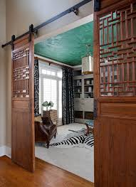 Space-Savers At Work: 20 Home Offices With Sliding Barn Doors ... Bedroom Extraordinary Barn Door Designs Hdware Home Interior Old Doors For Sale Full Size Winsome Farm Sliding 95 Track Lowes38676 Which Type Of Is Best For Your Pole Wick Buildings Bathrooms Design Homes Diy Bathroom Awesome Bathroom The Snug Is Contemporary Closet Exterior Used Garage Screen Large Of Asusparapc Privacy Simple