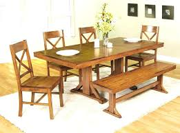 Rustic Dining Room Bench Natural Wood Image Of Plank Wall Kitchen Table