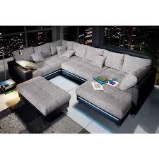 canape d angle avec grande meridienne canapé d angle méridienne au choix éclairage led en tissu effet