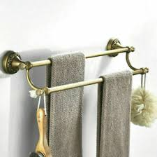 antik messing wand montiert doppel handtuchhalter badezimmer