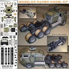 Grizzlor Truck PaperCraft Model! - Spyker Enterprise