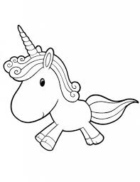 Printable Ba Unicorn Coloring Pages Kids Colouring Jos With