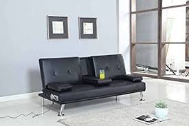 cinema sofa bed with bluetooth cup holder stand pu