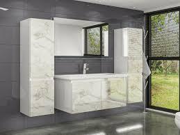 homeline badmöbel set diana badmöbel set 60 cm weiss marmor optik hochglanz badezimmermöbel bad 6 teilg 6 tlg kaufen otto