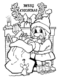 Coloring Pages Large To Print Christmas And Big