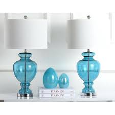 Target Lamp Base Blue by Table Lamp Oval Recycled Glass Table Lamp In Smoke Blue Clear