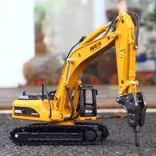 Kid Truck Mini Demolition Excavator Diecast Scale Model Toys 1:50 ...
