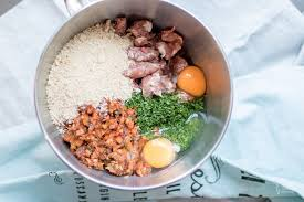 hackbraten mit salsiccia und knoblauch kartoffelpüree food