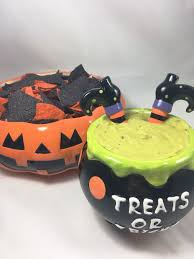 Pumpkin Throwing Up Guacamole With Cheese Dip by Cheesy Guacamole Witches Brew Dip