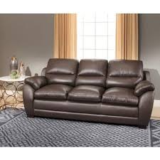 Abbyson Monarch Top Grain Brown Leather Sofa and Loveseat Free