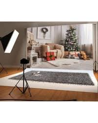 MOHome Polyster 7x5ft Backdrop Photography Background Christmas Interior Decoration Gift Tree Toy Sofa Fuzzy Carpet White