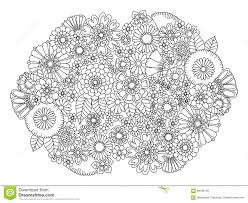 Royalty Free Vector Download Flowers Ornament Coloring Book For Adults