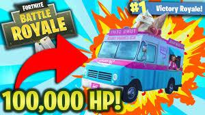 100 Ice Cream Truck Near Me HARD 100000 HP ICE CREAM TRUCK CHALLENGE Fortnite Battle Royale