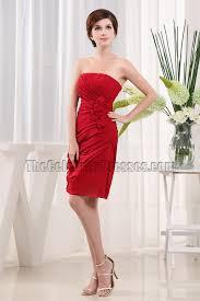 gorgeous red strapless graduation cocktail dress party dresses
