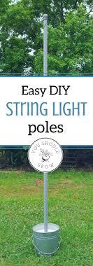 Best 25 Outdoor Patio Lighting Ideas On Pinterest Garden Diy Pole String Light Poles In Under