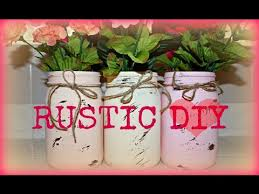 DIY Mason Jar Rustic Wedding Centerpiece Or Decor