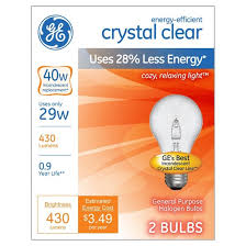 ge 40 watt energy efficient halogen light bulb 2 pack soft