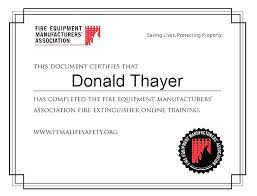 Fire Certificate Template Extinguisher Training Tags Inspection Warden