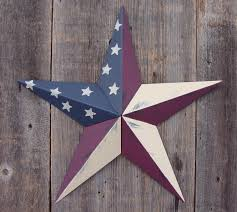 Rustic Olde Glory Country Style American Flag Metal Tin Barn Star Made In