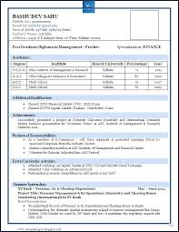 Resume Format For Mechanical Engineering Students Pdf 41 Best Of Freshers Template