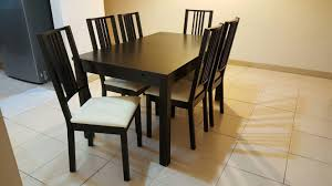 Furniture IKEA Dining Set For Sale | Secondhand.my Ted Net Ding Chair By Niels Gammelgaard For Ikea 1970s 67233 Tips Modern Parson Chair Design Ideas With Cozy Ikea Clear Jual Kursi Makan Putih Like New Di Lapak Norraryd Black Wishes Fabric Ding Chairs Inspirational Metal Room Fniture Rnninge Komnit Stunning Sets For Cek Harga Adde Info Mau Murah Terrific Best Decorating Table