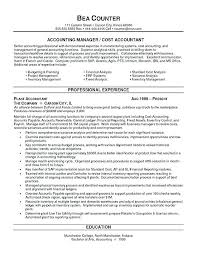 Cpa Sample Resume Public Accounting