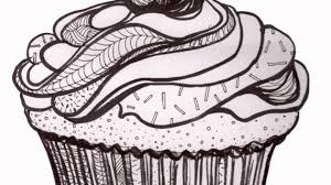 A Drawing A Cupcake Red Whip Thresher