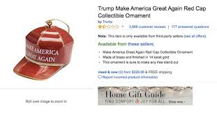Christmas Tree Stand Amazon by Trump U0027s Maga Christmas Ornament Is Getting Roasted On Amazon