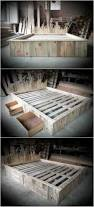 Pallet Bed Frame by Best 25 Bed Frame With Headboard Ideas On Pinterest
